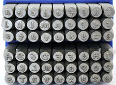 Posh Font Metal Stamp Combination Letter Set- 3mm Steel Stamps- Posh Metal Stamps- Jewelry Making Stamps- SG-1UL