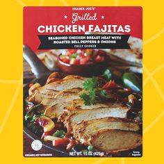 Healthy Must-Buys at Trader Joe's: Grilled Chicken Fajitas of package for Trader Joe's, Trader Joes Food, Healthy Cooking, Healthy Eating, Healthy Recipes, Healthy Habits, Healthy Foods, Hungry Girl Diet, Grilled Chicken Fajitas