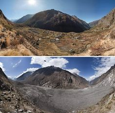 Nepal, then and now. Earthquake damage!