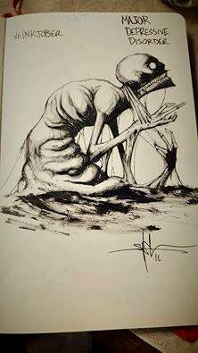 Artist: Shawn Coss   This looks like about how it feels to have MDD