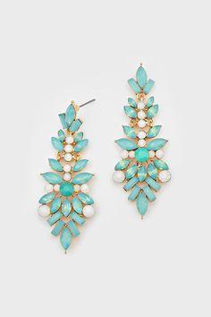 marquise chandelier earrings