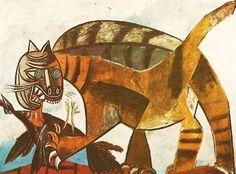 Le Chat Devoirait a L'Oiseau - Cat Devouring a Bird  | PICASSO  1939