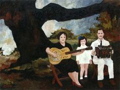 Rodrigue's painting of Cléoma Breaux Falcon, who recorded the first Cajun record with her husband Joseph Falcon in New Orleans, 1928.