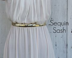 Sequin Sash - Best DIY Belts
