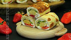 Clatite diplomat cu piscoturi   Adygio Kitchen No Cook Desserts, Dessert Recipes, Romanian Desserts, Fresh Rolls, Street Food, Tiramisu, Sushi, Deserts, Sweets