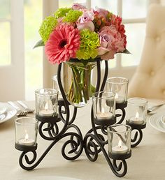 Vase and Votive Centerpiece from 1-800-FLOWERS.COM-97534