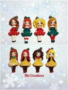 Gingerbread dolls, bamboline fatte a mano in fimo. dolls handmade in polymerclay