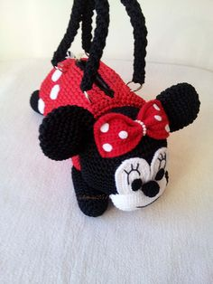 Minnie Mouse  Handmade crochet handbag  birthday by Solutions2511