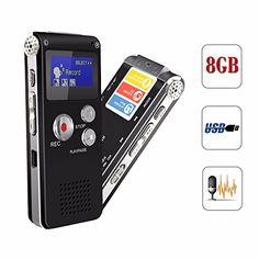 ELEGIANT 8GB digitale LCD-Bildschirm Stereo Diktierger�t Aufnahmeger�t Sprachaufnahme voice Recorder MP3 Player im B�ro Konferenz Schule Seminar usw