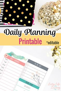 Free Printable Planning Pages and Goal Setting Worksheets