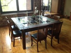 Salvaged Mill Door Table - Dining Tables - providence - by Lorimer ...