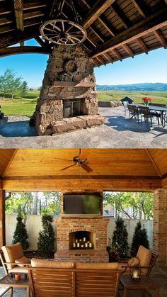 100 Amazing Outdoor Fireplace Designs @styleestate