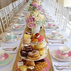 Tea party bridal/baby shower inspiration. If you're planning a shower for a bride that isn't into the hectic but is a high tea lover this is for her. More