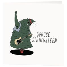 Pun filled Christmas Cards - featuring Bruce Springsteen