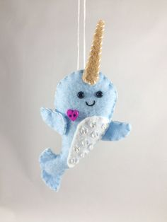 isnt this a narwhal or however you spell it justine pocock pocock tanner baby stuff pinterest felting craft and softies - Narwhal Christmas Decoration