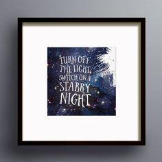 Switch on a Starry Night Galaxy Wall Art Print