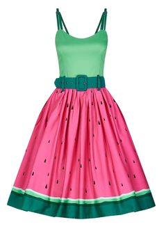 Collectif Jade Watermelon Swing Dress | Attitude Clothing
