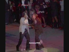 Prince and Paris Jackson Watching Their Dad Preform