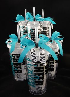 DIY your photo charms, compatible with Pandora bracelets. Make your gifts special. Make your life special! Deluxe Personalized Cheerleading Tumbler Cup by DanisCuties Cheer Gift Bags, Cheer Sister Gifts, Cheer Team Gifts, Cheer Camp, Football Cheer, Cheer Coaches, Cheer Party, Cheer Dance, Cheer Bows