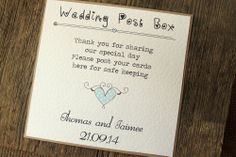 Wedding Post Box Sign Shabby Chic Vintage Heart Favour Decoration