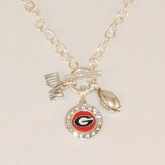 $10-$20 Great Gift Idea! Silver Tone Bracelet with a Football Charm and Round Georgia Logo J and D Jewelry and More http://www.amazon.com/dp/B00SVEZBG0/ref=cm_sw_r_pi_dp_bBUCwb1M8KKFQ
