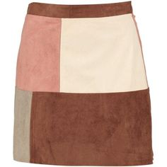 Boohoo Belle Patchwork Suedette A Line Mini Skirt | Boohoo ($16) ❤ liked on Polyvore featuring skirts, mini skirts, mini skirt, pink skirt, a-line skirts, short mini skirts and short skirts