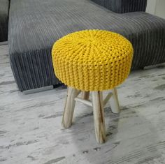 New!!! Knitted stool with wooden legs. Amazing colours available 😁