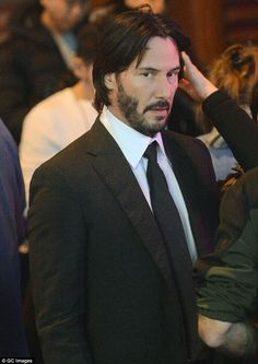 Keanu Reeves in NYC, John Wick 2 set