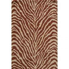Momeni Deco Zebra Salmon Contemporary Rug - DECOODC-16SAL