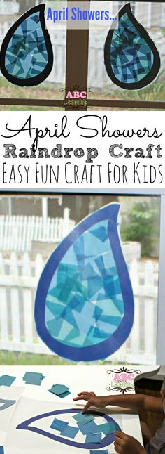 April Showers Rain Drop Craft For Kids - Simply Today Life
