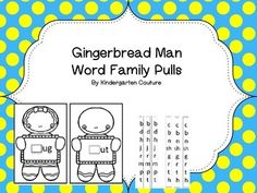 Print on cardstock and you are ready to go. Word Families included are at, ad, et, en, ut, ug, it, otThis product is in my Gingerbread Man Bundle along with the following 2D Shape Roll and Cover or Bump (Gingerbread Men)Cookie Shapes- A Gingerbread Man Predictable ReaderGingerbread Man Write The Room or Story RetellGingerbread Man Roll and Color 3D Shapes GBM Glyph and MoreGingerbread Word Family PullsGingerbread Man I Have Who Has -Shapes and PositionsGingerbread Man Class Alphabet…