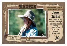Western Cowboy Birthday Party Invitations or Thank You Cards | Scrapless Press