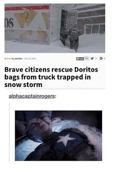 Brae citizens rescue Doritos bags from truck trapped in snow storm