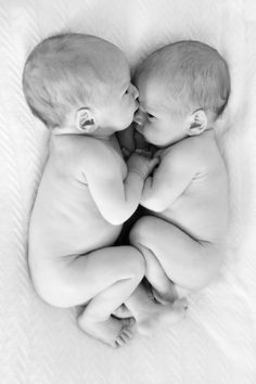 My favorite newborn twin photo of identical twin boys!
