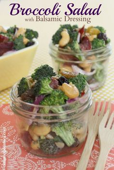 Broccoli Salad with Balsamic Dressing