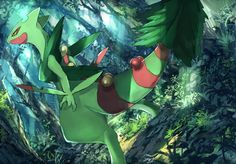 Mega Sceptile. Oh, my Evergreen. You kick all of the butt.