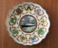 Stunning vintage nautical souvenir wall plate  by RAVERETRO