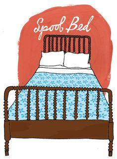 History of Spool Beds    Illustration by Julia Rothman:   http://www.juliarothman.com