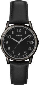 Timex Men's Elevated Classics Dress All Black Leather Strap Watch The Timex Men's Easy Reader Black Case with Black Dial Watch is a great Amazing Watches, Beautiful Watches, Casual Watches, Watches For Men, Wrist Watches, Timex Watches, Women's Watches, Black Leather Watch, Tear