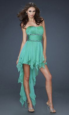 Price:$101.00 color:as picture Material: Chiffon   Sexy Green Shiny Rhinestone Dress