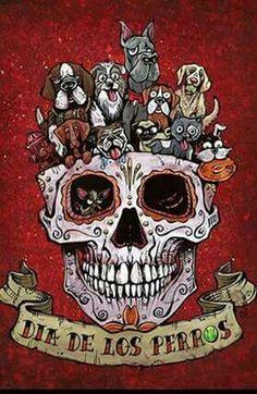 Day of the Dead artist David Lozeau paints Dia de los Muertos art, skeleton art, sugar skull art, and candy skull art in a unique Lowbrow art style. Tattoo Crane, Day Of The Dead Art, Sugar Skull Art, Sugar Skulls, Skeleton Art, Candy Skulls, Illustration, Lowbrow Art, Skull Tattoos