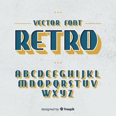 Fonts Vectors, Photos and PSD files Typography Alphabet, Vintage Typography, Vintage Logos, Lettering Tutorial, Fonte Alphabet, Letras Abcd, Typographie Fonts, Alphabet Letter Crafts, Aesthetic Fonts
