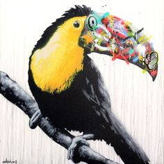 The work and life of Norwegian stencil and streetart artist Martin Whatson. Featuring his work on canvas, as screenprints and on walls all over the world. Graffiti Cartoons, Kiss Art, Animal Graphic, Best Street Art, Art Case, Art Studies, Public Art, Urban Art, Cool Artwork