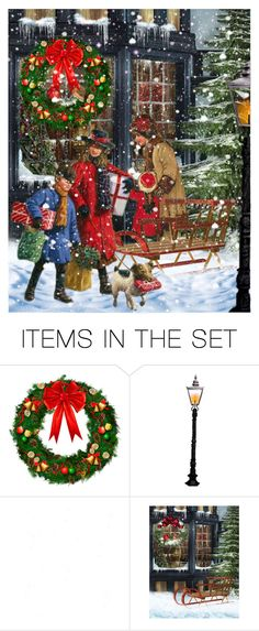 """""""Christmas Shopping"""" by victorianheaven ❤ liked on Polyvore featuring art"""