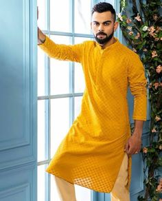 is part of Virat kohli wallpapers - Wedding Kurta For Men, Wedding Dresses Men Indian, Wedding Dress Men, Wedding Suits, Mens Indian Wear, Indian Groom Wear, Indian Men Fashion, Mens Fashion, Fashion Suits
