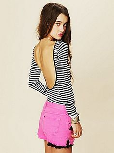 Intimately Striped Low Back Top at Free People Clothing Boutique