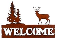This Rustic Whitetail Deer with Trees Welcome Sign is the perfect addition to your home or cabin while providing a welcoming feeling to any visitors at the same time. The durable Whitetail Deer Welcom