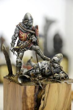 The Modelling News: Euro Militaire 2012 Pt. Medieval Knight, Medieval Armor, Fantasy Paintings, Medieval Paintings, The Modelling News, De Havilland Mosquito, Armadura Medieval, Knight Art, Military Figures