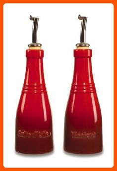 Le Creuset Stoneware Oil and Vinegar Set, Red - Improve your home (*Amazon Partner-Link)