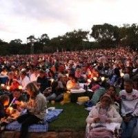 Carols by Candlelight 2012 at the famous Kirstenbosch National Botanical Gardens in Cape Town from the 13th December 2012 to 16th December 2012 - bring a picnic. Cape Town Events.